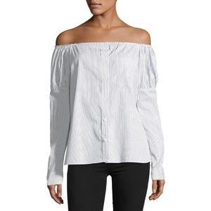 Bailey 44 Sovereign Stripe Off the Shoulder Blouse